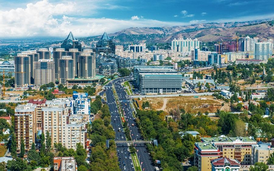 město Almat Kazakhstan střední Asie