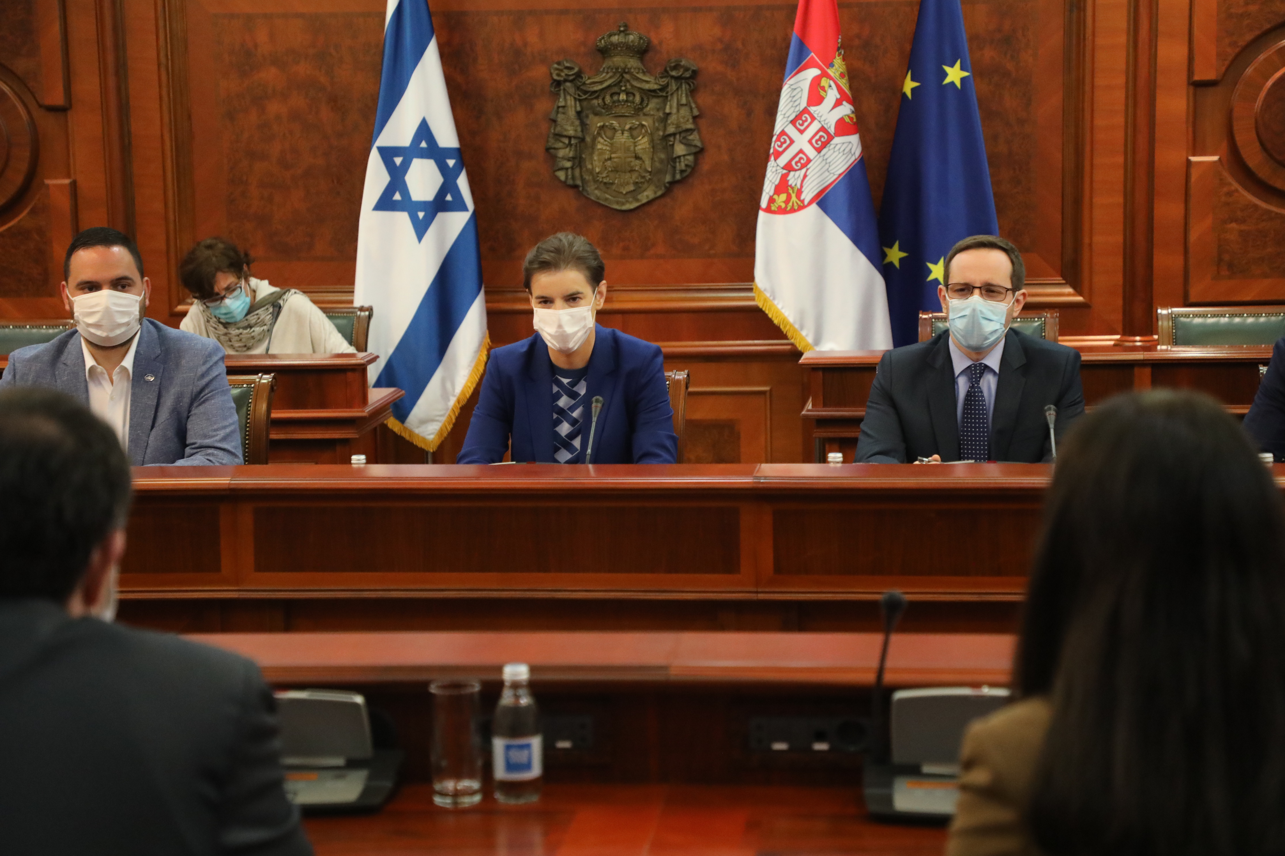 Setkání Izraelské vylvyslankyně Yahel Vilan s ministerskou předsedkyní Srbska Anou Brnabic