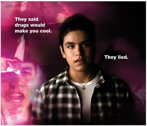 Jeden z našich posterů Prohlášení o drogách