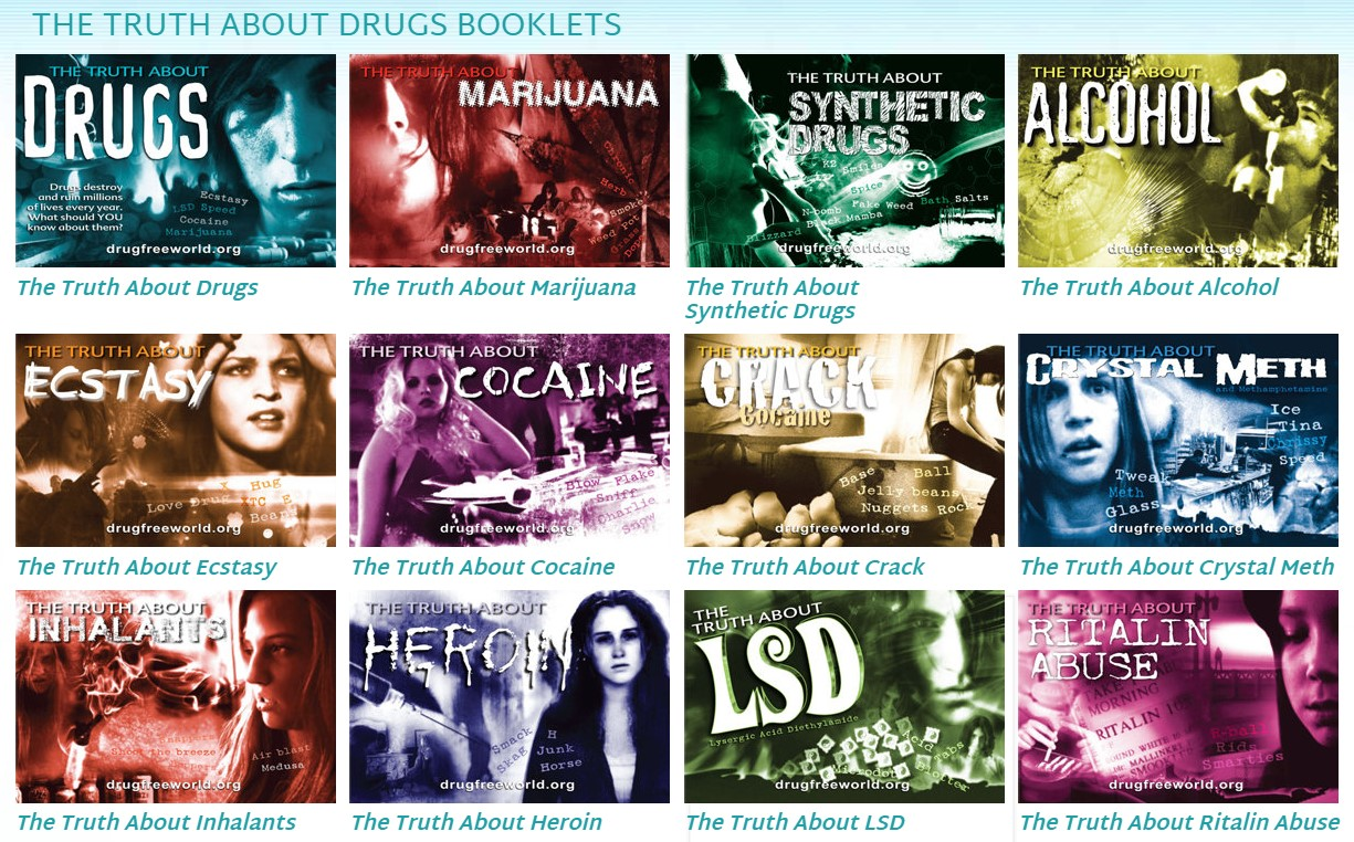 brožurky o drogách