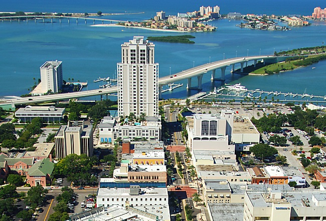 město Clearwater na Floridě