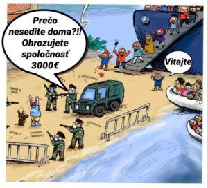 přistání nelegálních migrantů