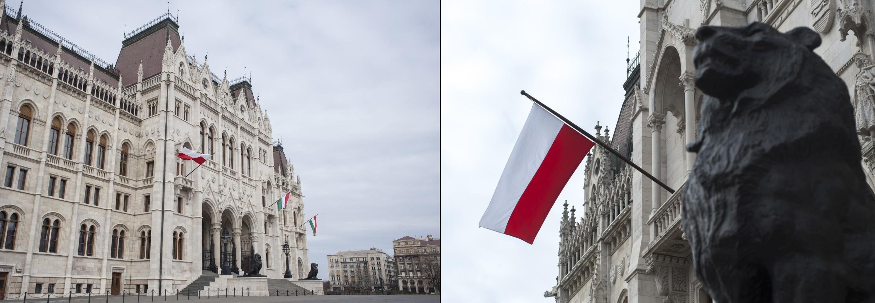 U příležitosti maďarsko-polského dne přátelství bude na úterý 23. března na návrh maďarského parlamentu a předsedy polského Sejmu vztyčena na průčelí parlamentu v Budapešti polská národní vlajka a polská státní vlajka budova parlamentu v maďarských národních barvách.