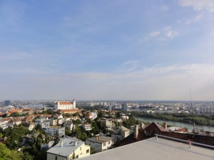 výhled z residence Bonaparte Bratislava na Bratislavský hrad
