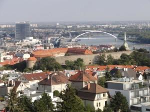 výhled z residence Bonaparte Bratislava